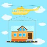 直升机房子 库存图片
