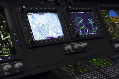 直升机控制板 免版税库存照片