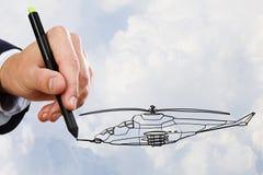 直升机模型设计  库存图片