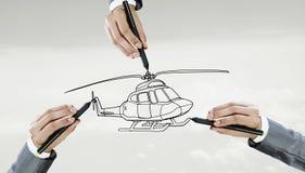 直升机模型设计  免版税库存照片