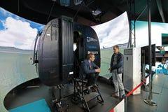 直升机模拟器 免版税库存照片