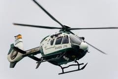 直升机民用的瓜迪亚 航空器:EC135 免版税库存照片