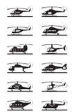 直升机的不同的类型 皇族释放例证