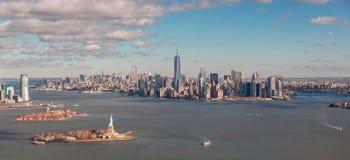 从直升机的纽约 免版税库存图片