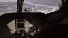 直升机的飞行员 股票录像