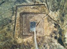 直升机着陆的停机坪 免版税库存图片