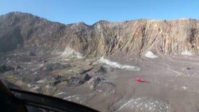从直升机窗口的白色海岛全景视图在新西兰 股票录像