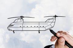 直升机设计 免版税库存图片