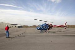 直升机,阿巴拉契亚边陆 免版税库存照片