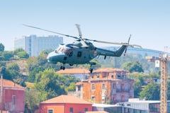 直升机轻风景 库存照片
