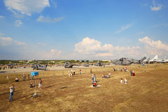 直升机Mi的示范 库存图片