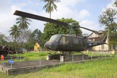 直升机UH-1在颜色城市博物馆  越南 免版税库存图片