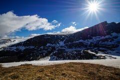升起在登上Bierstadt的太阳 免版税库存图片