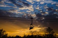 升降椅在西里西亚公园 免版税库存照片