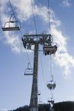 升降椅滑雪 免版税库存图片