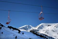 升降椅滑雪 图库摄影