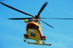 直升飞机营救佩格瑟斯意大利语118 库存图片