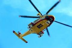 直升飞机营救佩格瑟斯意大利语118 库存照片