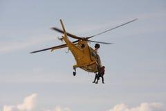 直升飞机营救 库存照片
