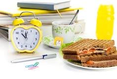 午休的概念在学校,学院或在工作场所 免版税库存照片