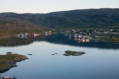 午夜在挪威 库存图片