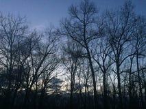 午夜天空 图库摄影