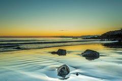 午夜日落在冰岛 免版税图库摄影