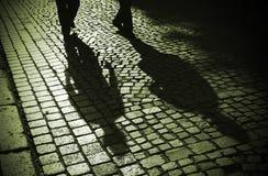 午夜步行者 免版税库存照片