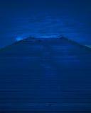 午夜滑动式造船架 图库摄影