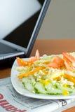 午餐办公室沙拉 免版税库存图片
