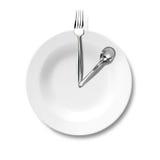 午餐和经营战略 免版税库存图片