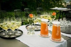 午餐在庭院里 免版税图库摄影