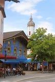 午餐在德国镇 库存照片
