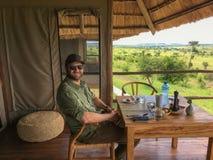 午餐在非洲 免版税库存照片