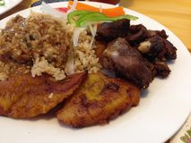 午餐时间在海地 免版税库存图片