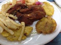 午餐时间在海地 免版税库存照片