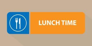 午餐时间标志 皇族释放例证