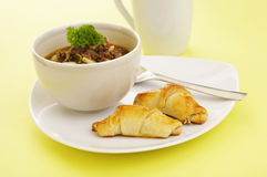 午餐汤 免版税库存图片