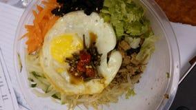 午餐的朝鲜拌饭 库存图片