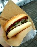 午餐的汉堡 免版税图库摄影