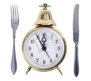 午餐符号时间 免版税库存照片