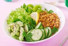 午餐素食主义者 吃健康 适当的营养 免版税库存图片