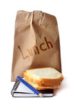 午餐路径 库存图片