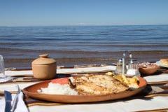 午餐鳟鱼 库存图片