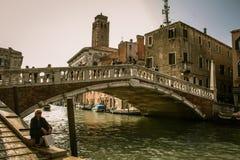午间在威尼斯 免版税库存照片