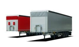 半两辆卡车拖车 库存图片