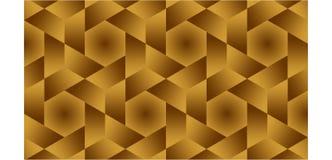 半六角的背景,六角和三角是金黄形状的小组包括金子的和褐色,抽象几何轻拍 皇族释放例证
