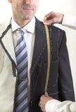 半准备好,典雅的定制衣服 免版税库存图片