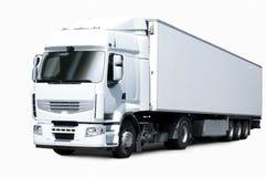 半卡车白色 免版税图库摄影