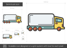 半卡车线象 库存图片